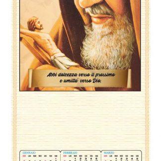 Calendario cinese Padre Pio