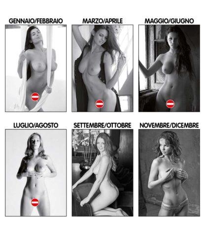 Calendario donne nude bianco e nero D3190