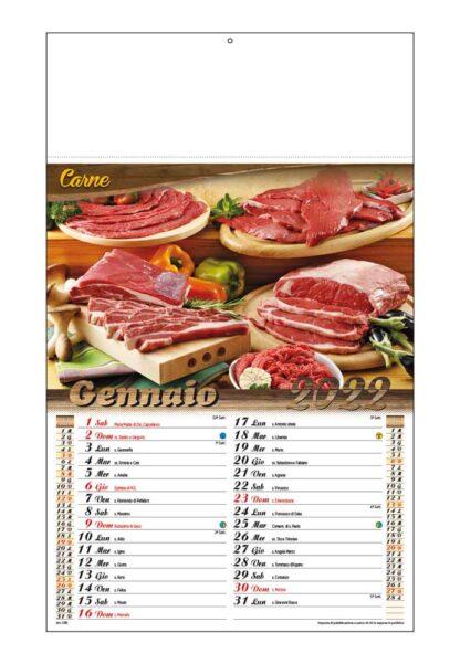 Calendario illustrato carne