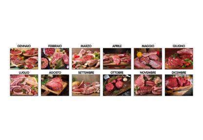 Calendario illustrato carne D8590