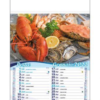 Calendario illustrato pesce D9190