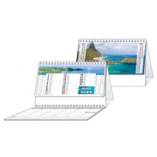 Calendario da tavolo illustrato mari con blocco appunti C6451F