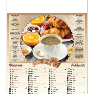 Calendario illustrato caffè e sapori D5090