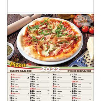 Calendario illustrato pizze