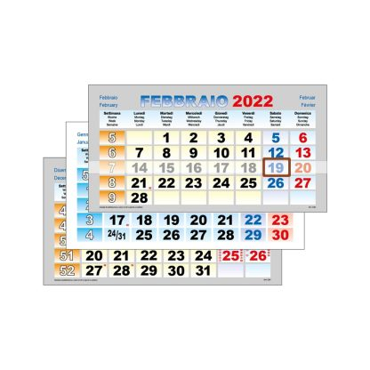 Mensili per calendario trittico C3405