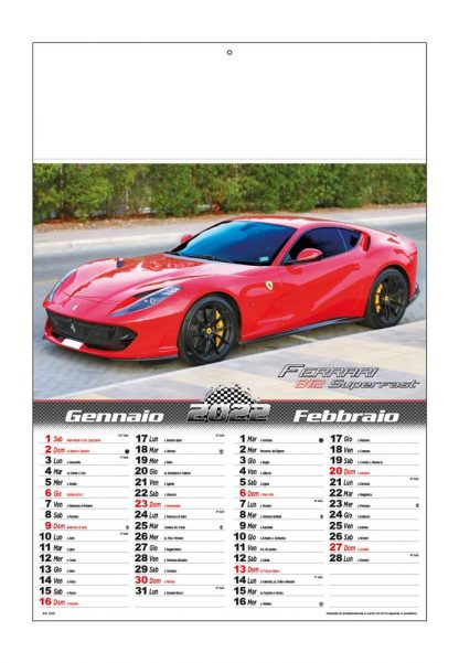 Calendario illustrato Auto Sportive