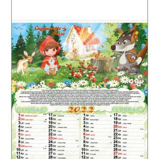 Calendario illustrato fiabe